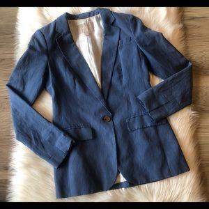 Banana Republic Blue Blazer Silk Blend Size O